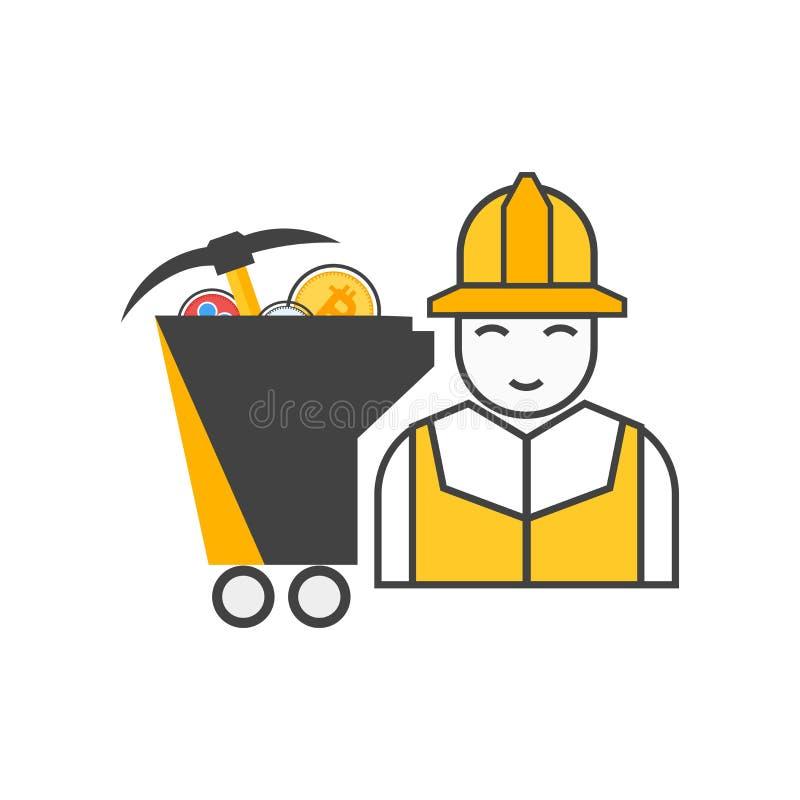 Dowód pracy ikony wektoru znak i symbol odizolowywający na białym tle, dowód praca logo pojęcie royalty ilustracja