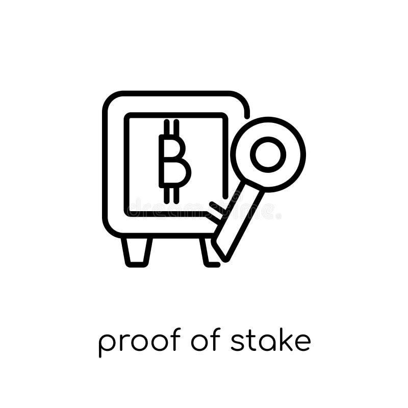 Dowód tyczna ikona Modny nowożytny płaski liniowy wektorowy dowód s ilustracji