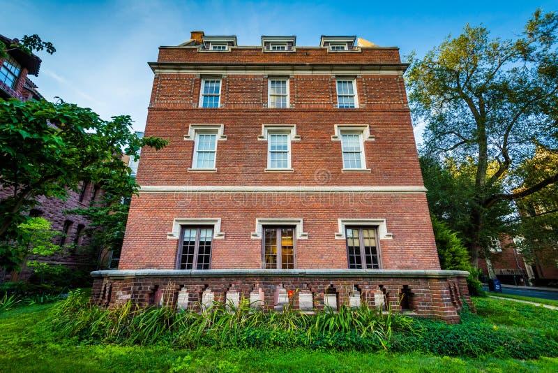 Dow Hall, auf dem Campus von Yale University, in New-Haven, Connec lizenzfreies stockbild