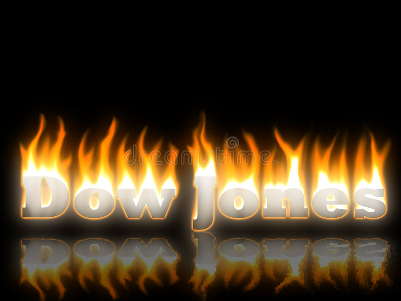Dow Jones ilustração royalty free