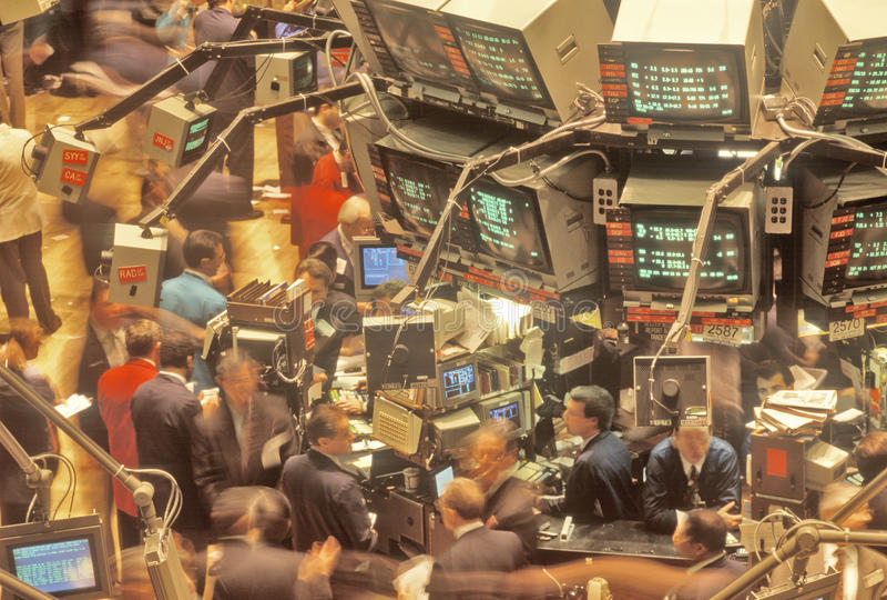 Dow Jones New York Stock Exchange, Wall Street, New York City, NY arkivbild
