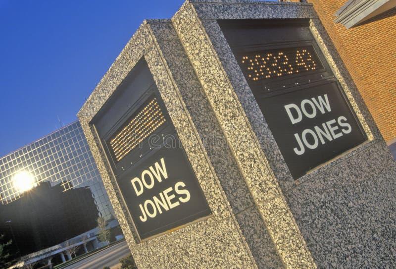 Dow Jones Stock Market marker, St. Louis, Missouri stock photos
