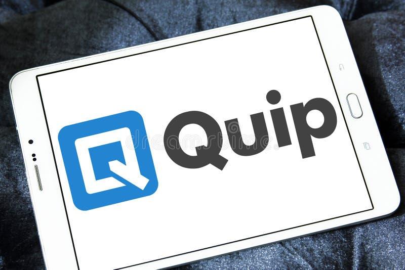 Dowcipnej uwagi oprogramowania logo zdjęcie stock
