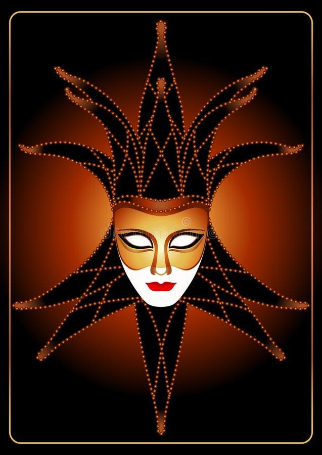 dowcipniś maska royalty ilustracja