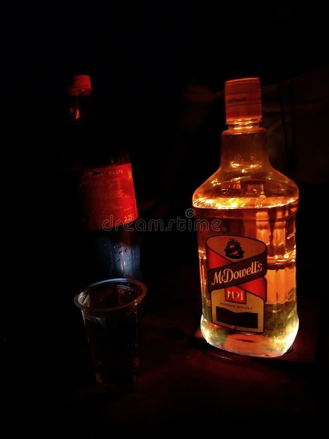 dowell luz-enchido do mc da garrafa do Leaker imagem de stock