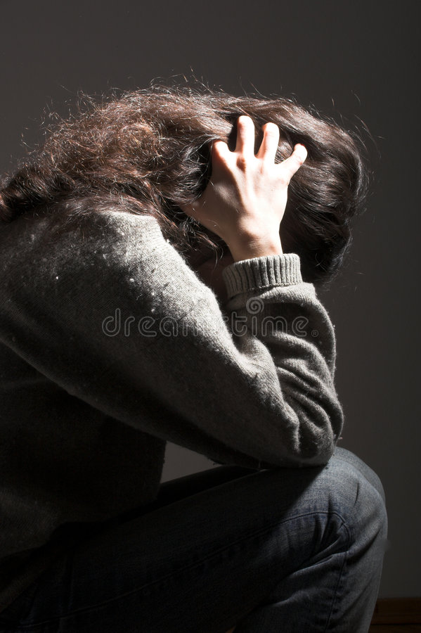 Download Down 2 stock image. Image of alone, despair, depressed - 1635761