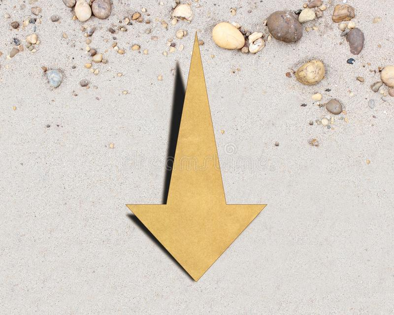 Down arrow on the background royalty free stock image
