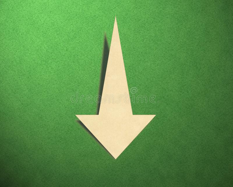 Down arrow on the background royalty free stock photo