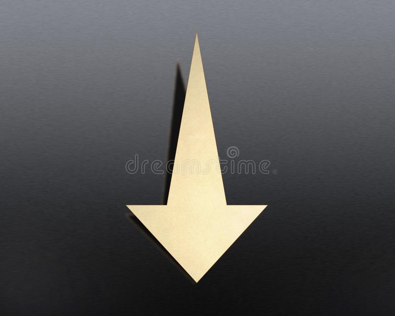 Down arrow on the background royalty free stock photos