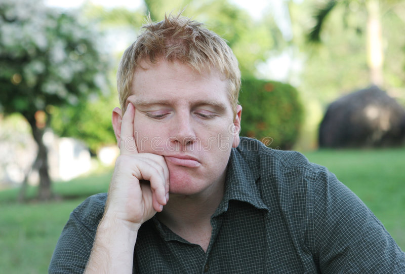 Download Down in the dumps stock photo. Image of male, expression - 1654838