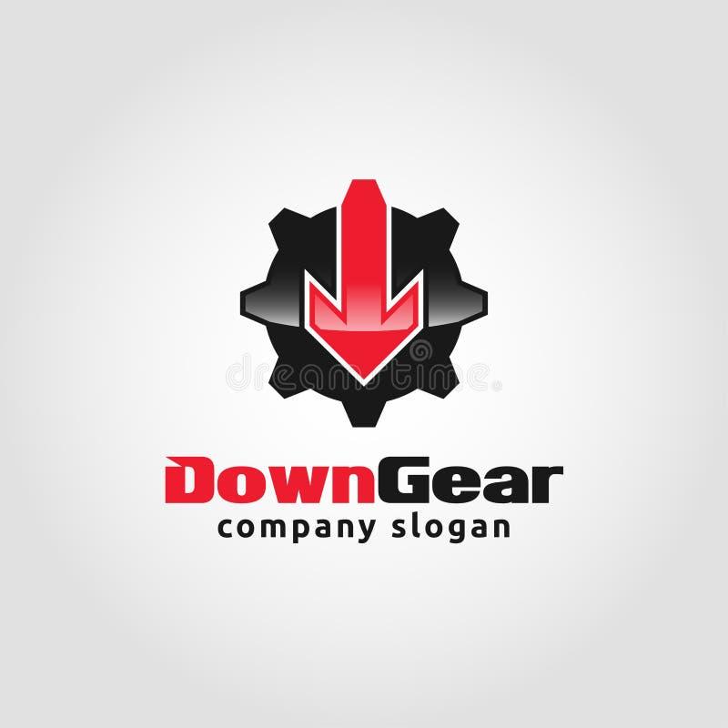 Down Gear - Auto Service Logo template.  stock illustration
