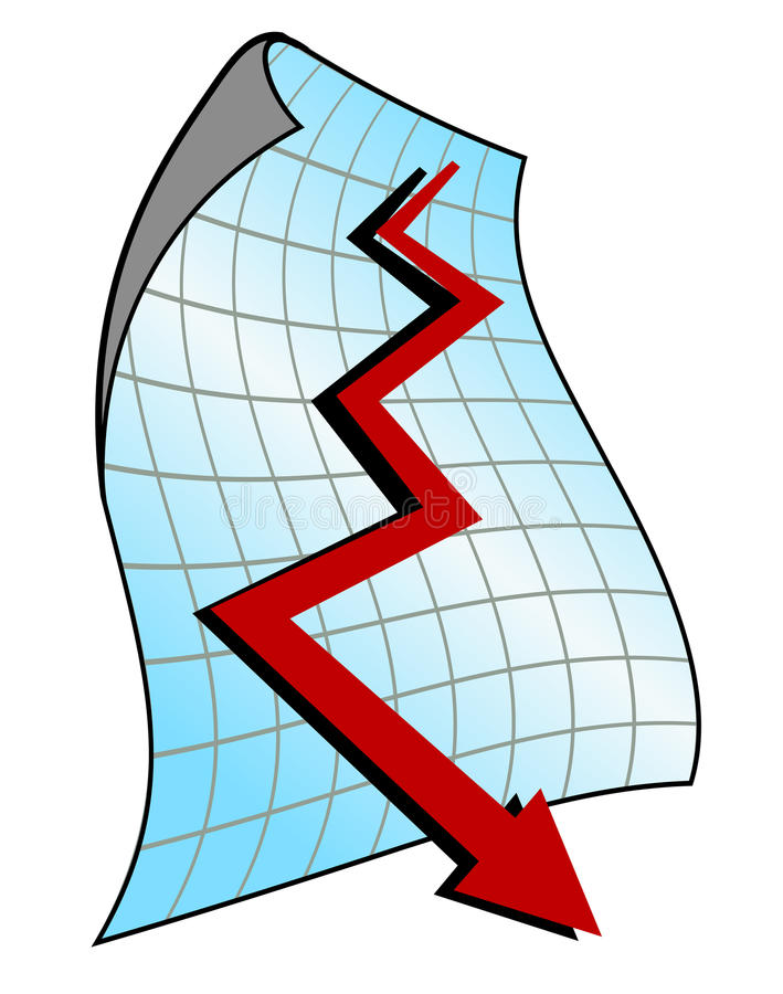 Down graph vector illustration
