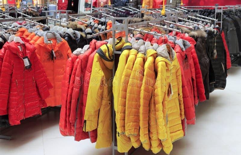 Down jacket stock photo