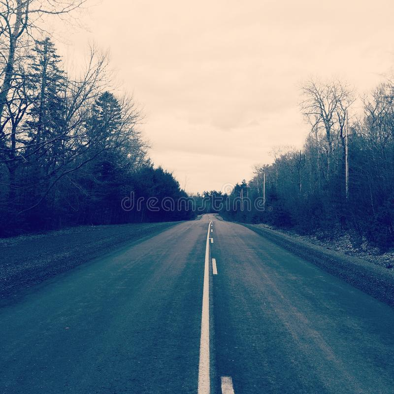 Down the road royalty free stock photo
