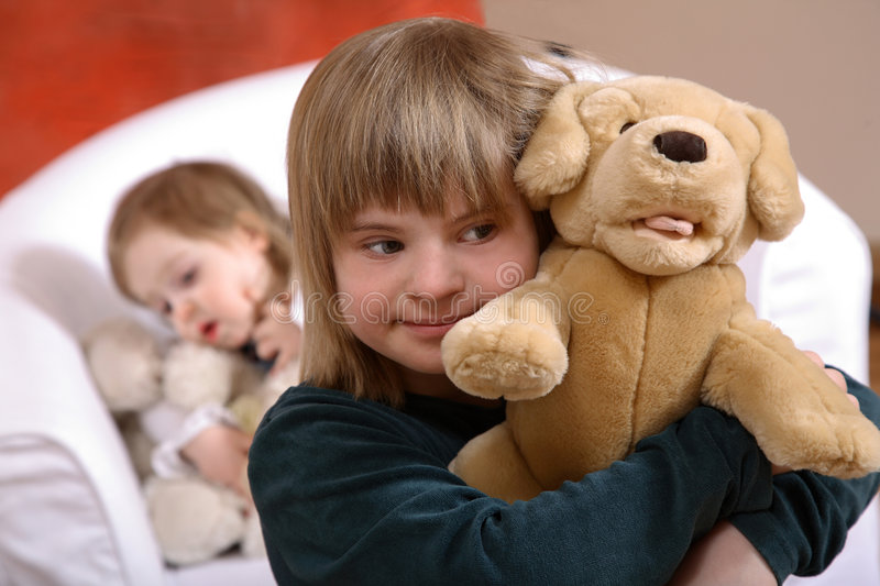 Down's Syndrome Children stock photo