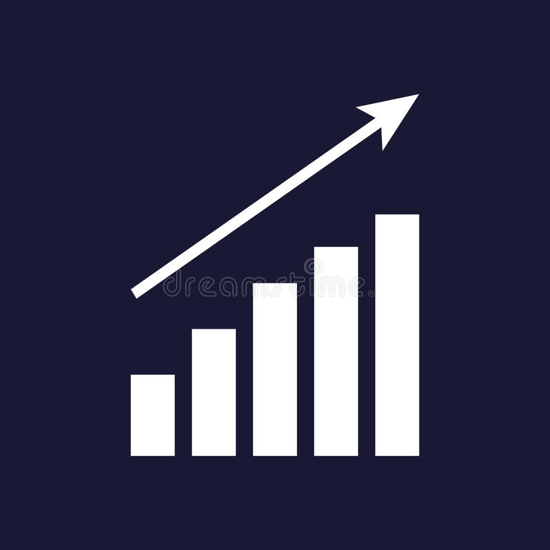 Down schedule, the decline. Infographic, chart icon, Flat vecto vector illustration