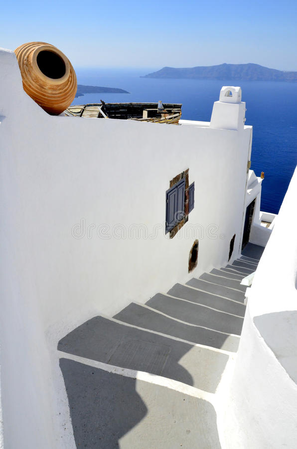 Download Down Stairs To The Aegean Sea Stock Image - Image: 27446957