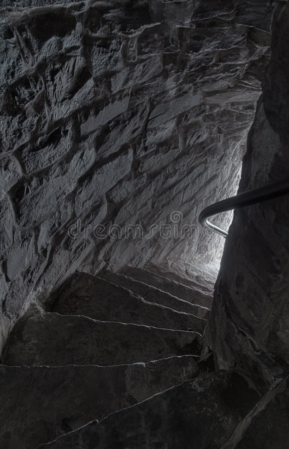 Down the Stone Steps royalty free stock images