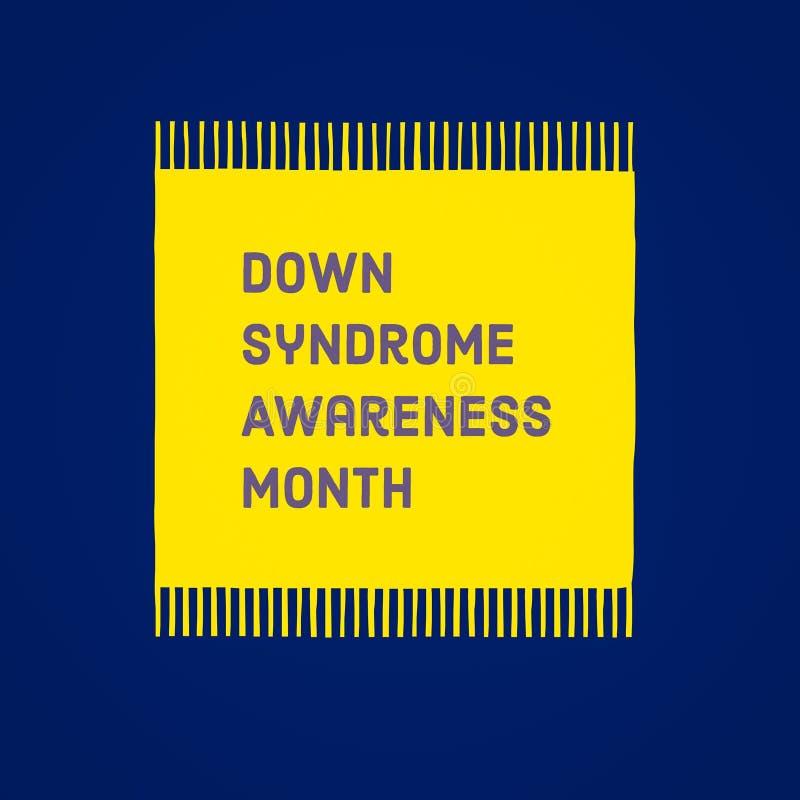Down-Syndrom Bewusstseinsmonat lizenzfreie abbildung