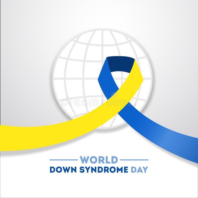 Down-Syndrom Tag lizenzfreie abbildung