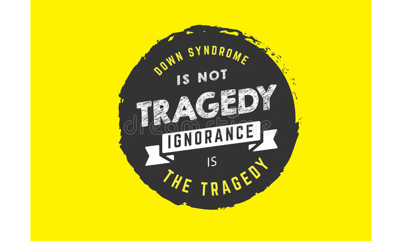 Down Syndrome lizenzfreie abbildung