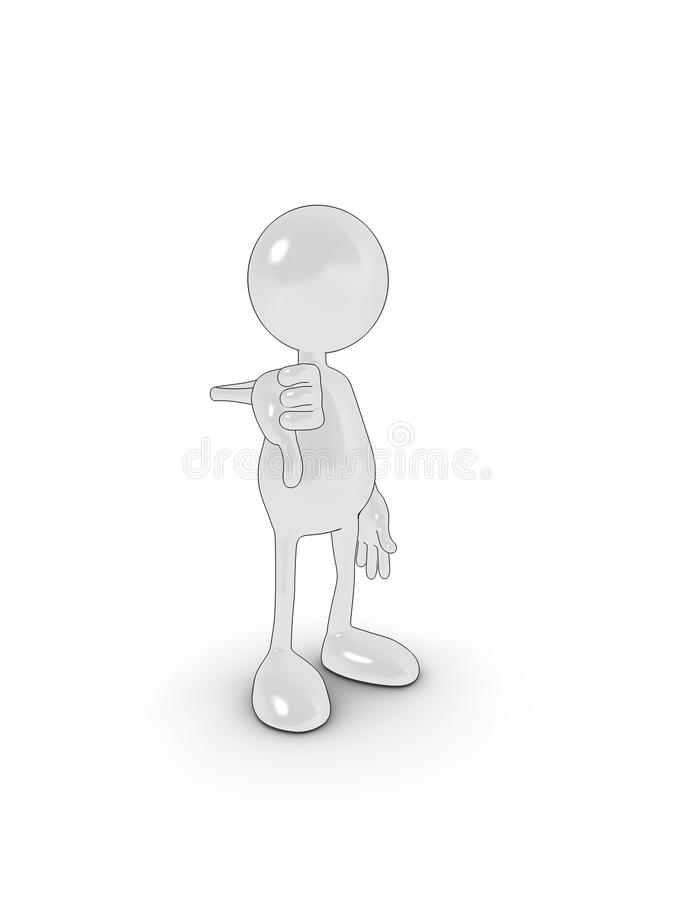 down thumbs απεικόνιση αποθεμάτων