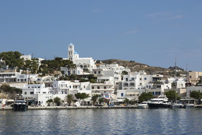 Down town Adamas Milos Greece royalty free stock images