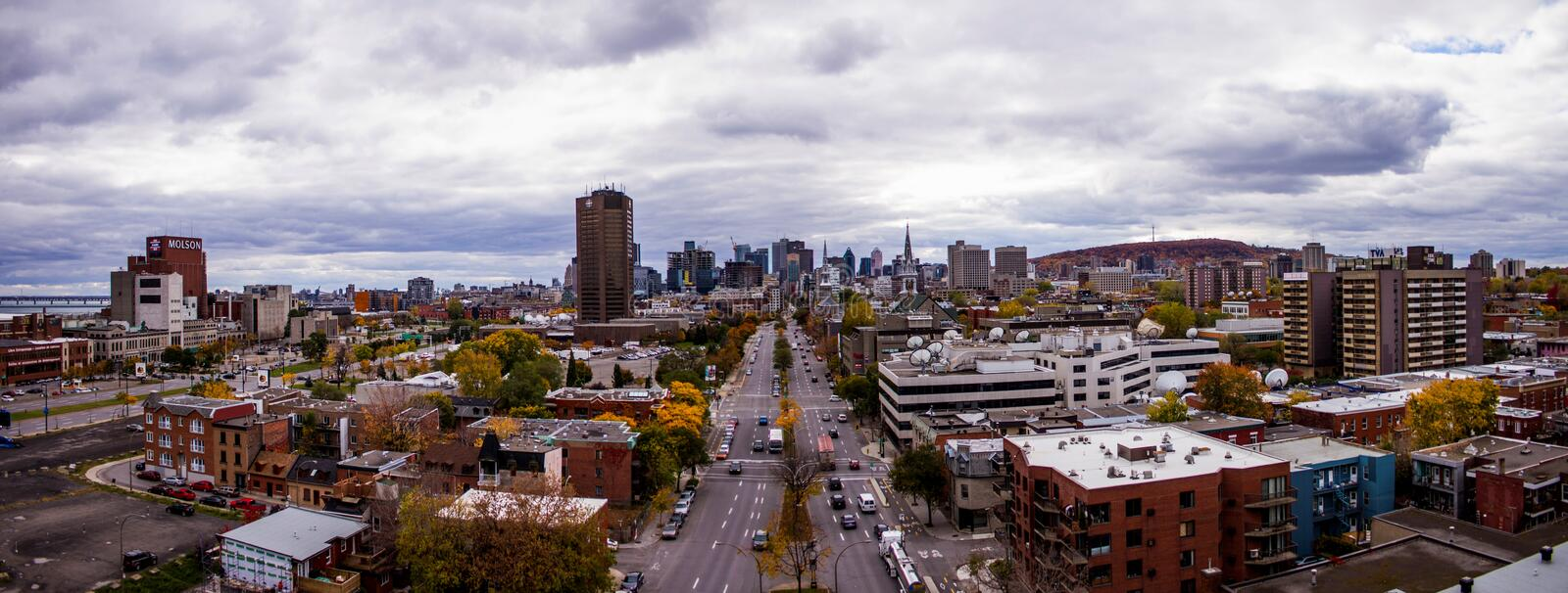 Down town, Montreal, Quebec, Canada royalty free stock photo