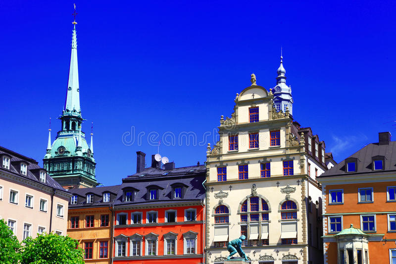 Download Down town . Stocholm stock image. Image of bicycle, building - 31603525