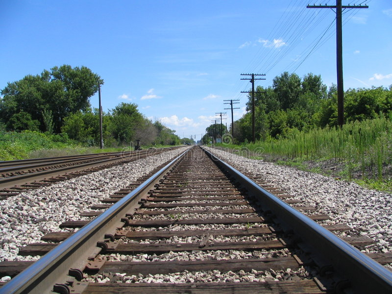Down The Tracks royalty free stock photography