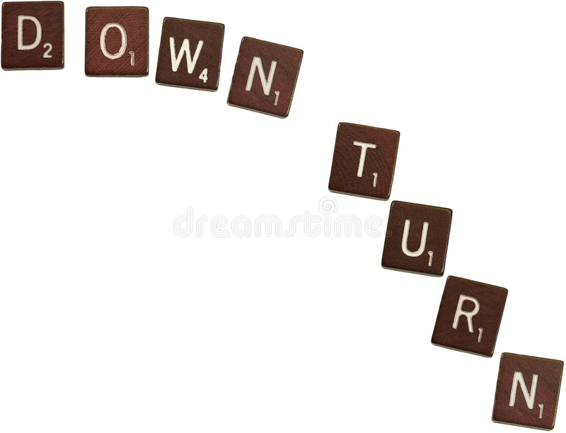 Down turn royalty free stock photography