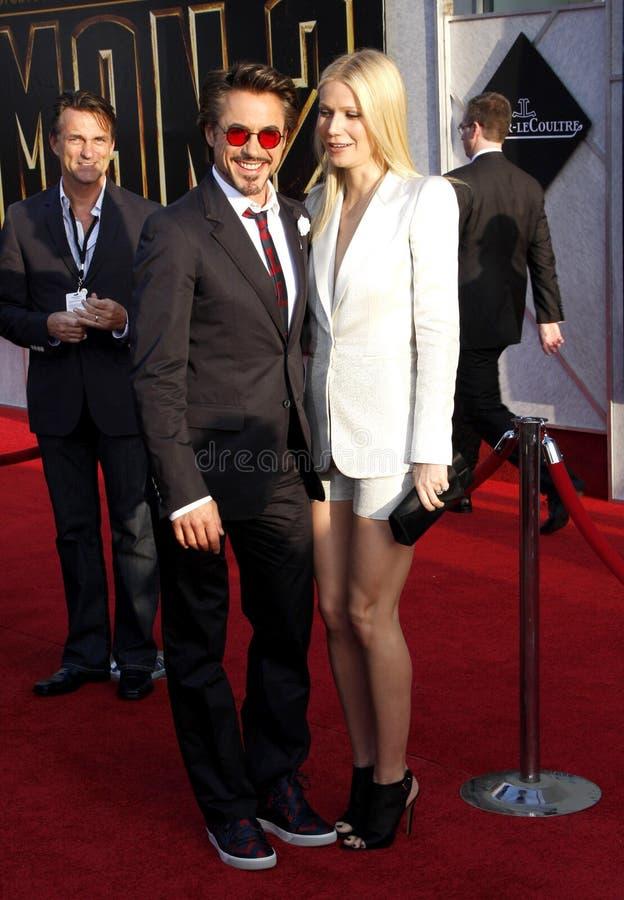 downey jr Robert και Gwyneth Paltrow στοκ εικόνες