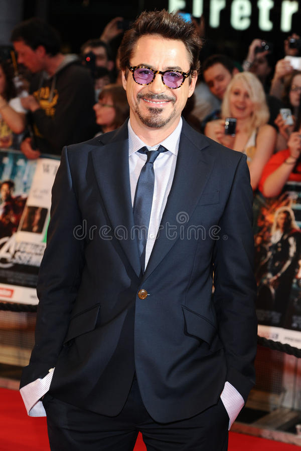downeyjr robert royaltyfria foton