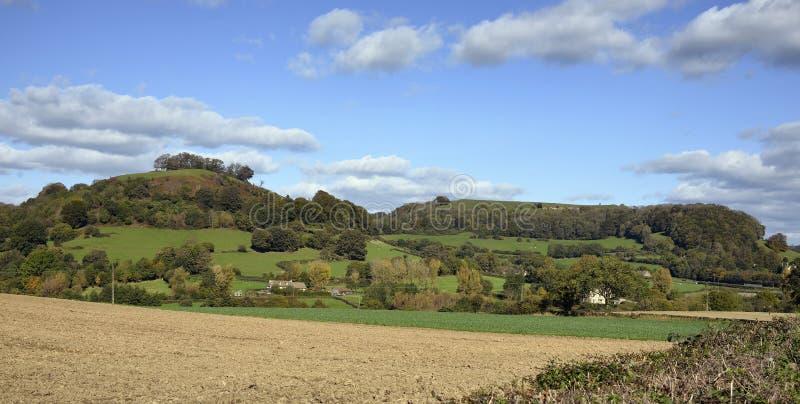 Downham-Hügel u. Uley-Bedecken lizenzfreie stockfotografie