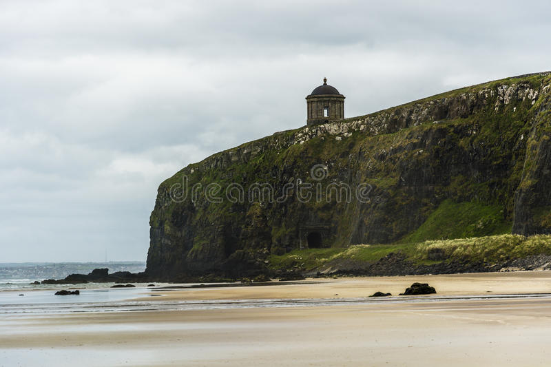 Downhill Beach and Mussenden Temple, Northern Ireland Coastline royalty free stock photo