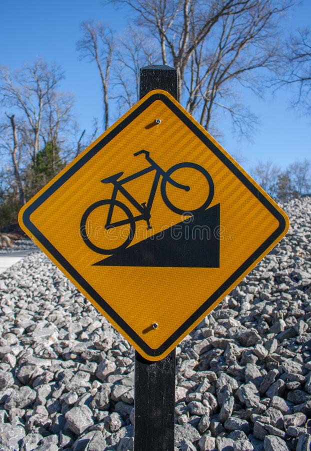 Downhill Bike Sign royalty free stock photography