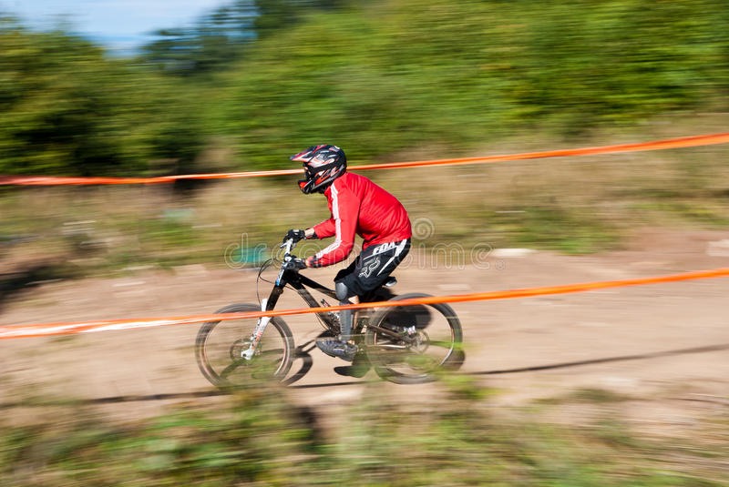 Downhill Competition - Motion Blur Editorial Stock Photo