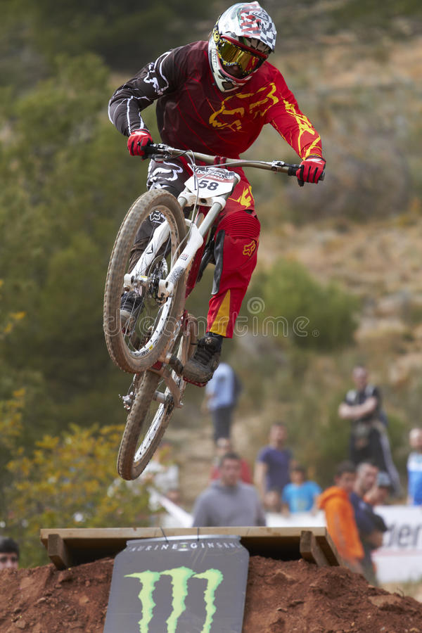 Download Downhill jump editorial stock photo. Image of mountain - 23758478