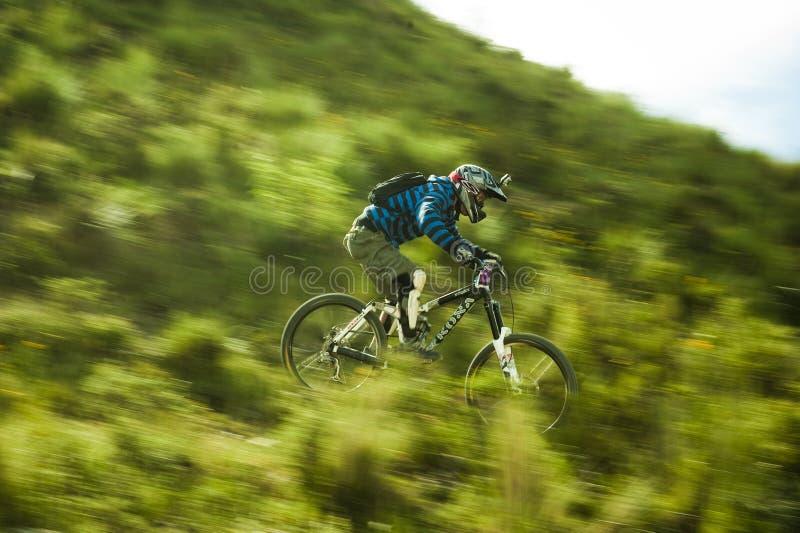Downhill in Muela del Diablo, Bolivia stock photo