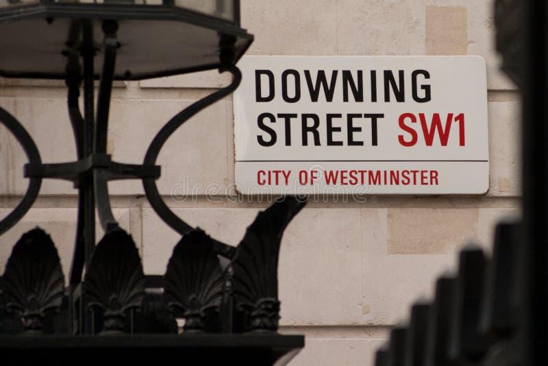 Downing Street fotografia de stock royalty free