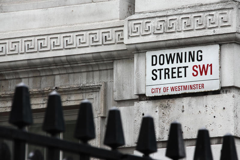 Downing Street image stock