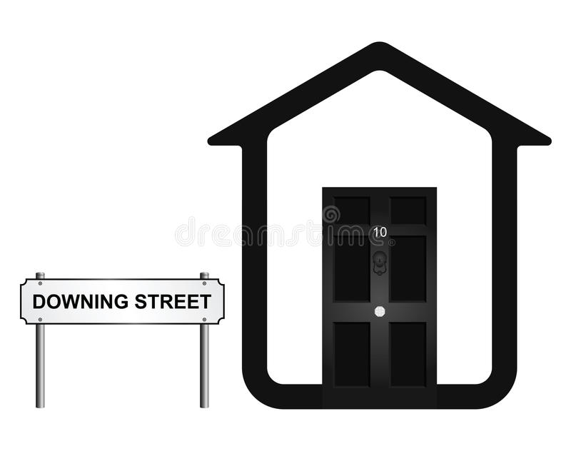 Downing Street ilustração stock