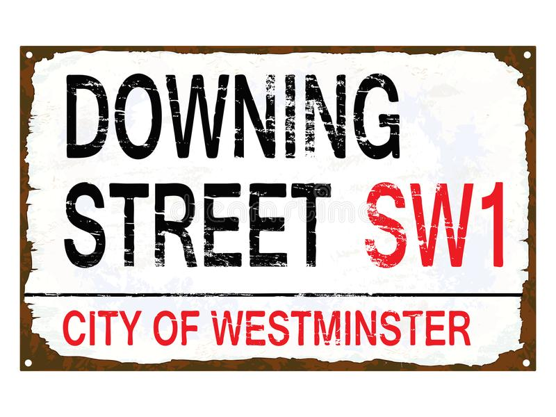 Downing Street emalii znak royalty ilustracja