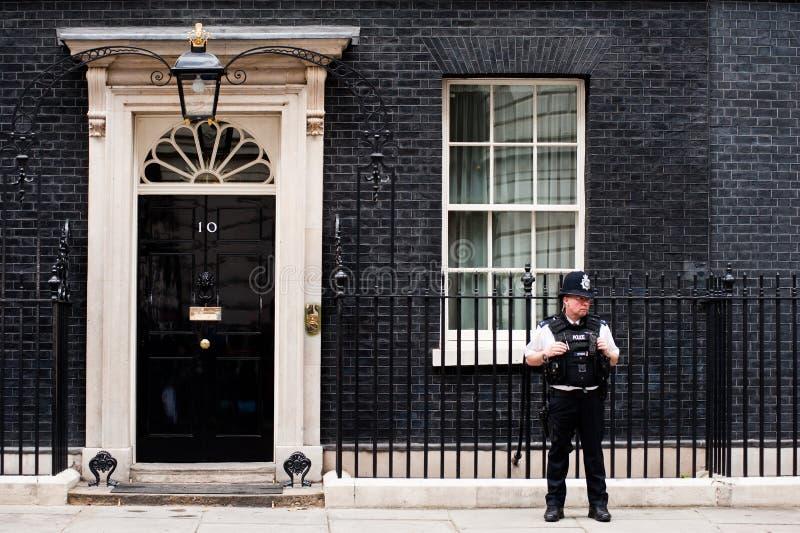 10 Downing Street in London lizenzfreies stockbild