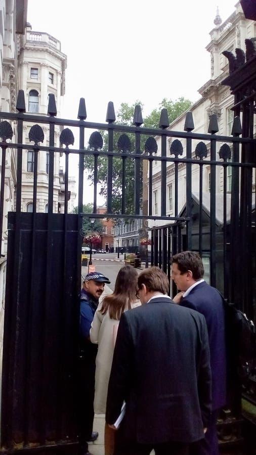 10 Downing Street in London lizenzfreie stockfotografie