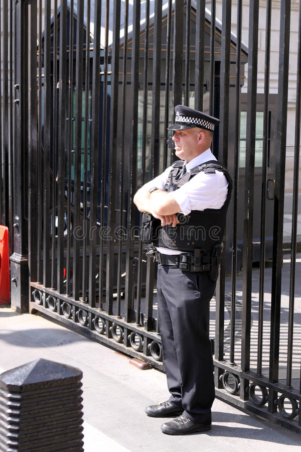 Downing Street Nr. 10 stockfotos