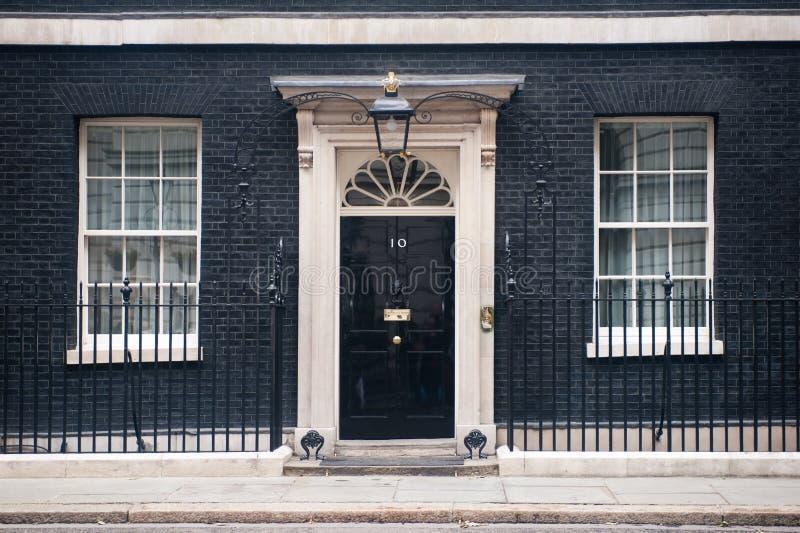 10 Downing Street w Londyn fotografia royalty free