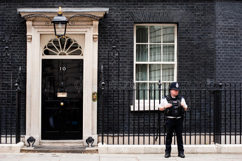 10 Downing Street w Londyn obraz royalty free
