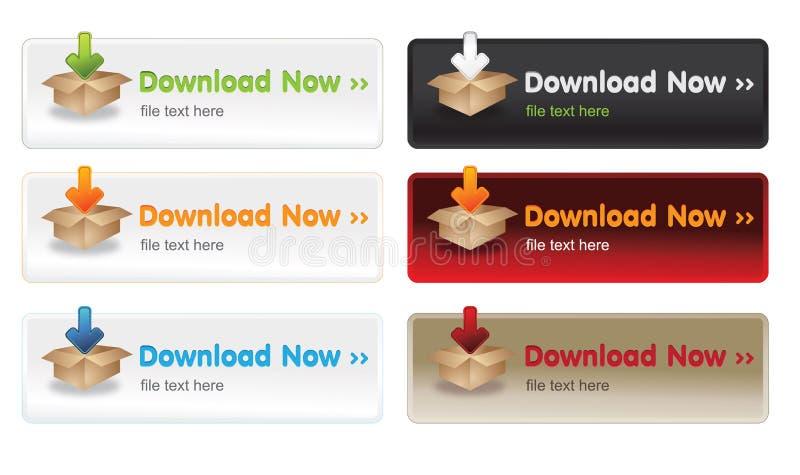 download кнопок иллюстрация вектора