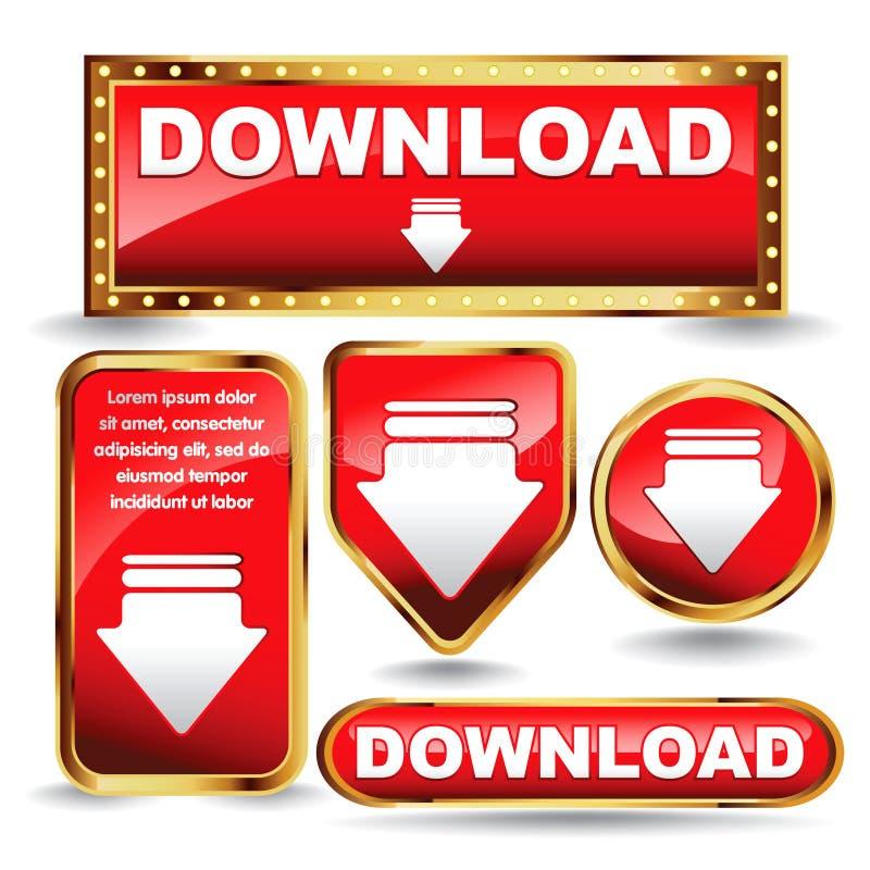 Download теперь застегивает собрание. иллюстрация штока